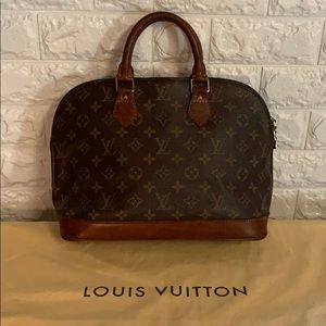 Authentic Louis Vuitton Alma custom cognac stain